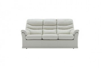 Malvern Leather 3 Seater Sofa (3 Cushions)