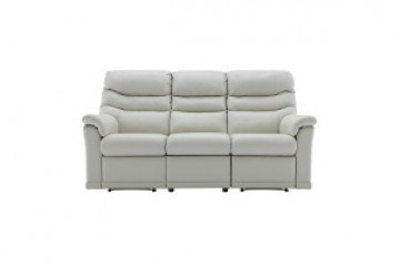 Malvern Leather 3 Seater Recliner Sofa (Left Hand Facing)