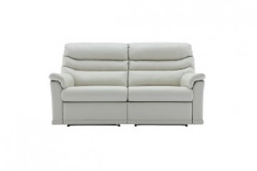 Malvern Leather 3 Seater Recliner Sofa (Double) (2 Cushions)