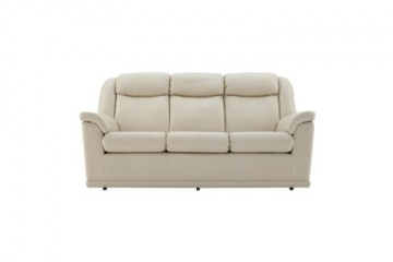 Milton Leather 3 Seater Sofa