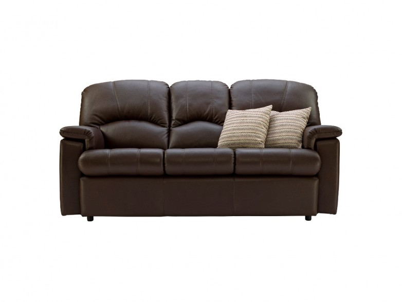 G plan chloe leather 3 seater small sofa hatters fine for Fitted bedroom furniture 0 finance