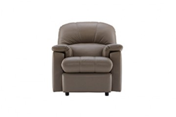 Chloe Leather Small Recliner Chair