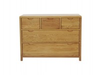 Bosco Bedroom Five Drawer Wide Chest thumbnail