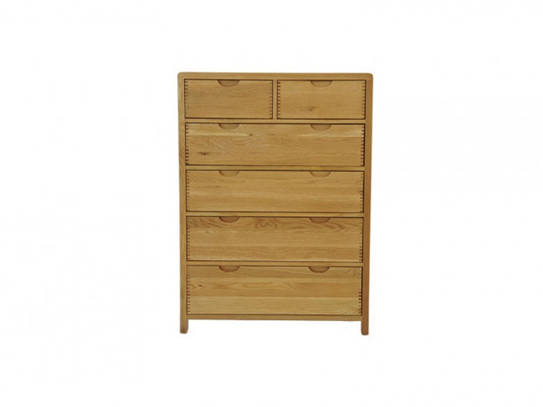 Ercol bosco bedroom six drawer tall wide chest hatters for Fitted bedroom furniture 0 finance