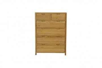 Bosco Bedroom Six Drawer Tall Wide Chest