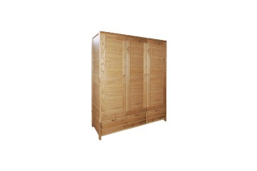 Bosco Bedroom Three Door Wardrobe