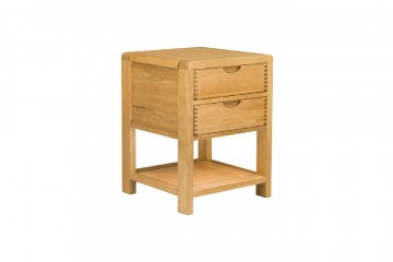 Bosco Bedroom Two Drawer Bedside Cabinet