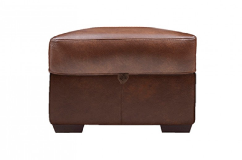 Acacia Leather Foot Stool