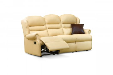 Ashford Small Leather Reclining 3-Seater Settee