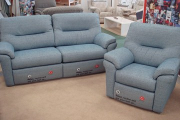 Washington. 3 Seater Sofa & Power Recliner Chair