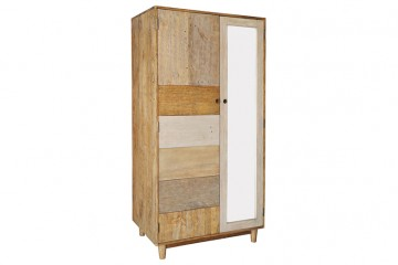 Grenier Reclaimed Pine Double Wardrobe