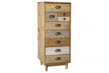 Grenier Reclaimed Pine Tall Wellington Chest