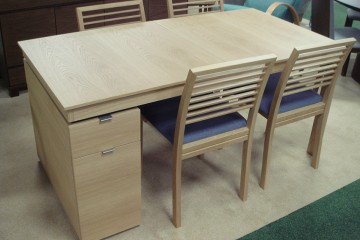 Skovby Desk-Extending Table & 4 Chairs