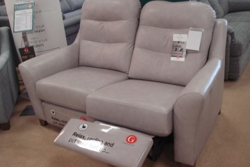 Tate 2 Seater Power Recliner In Leather