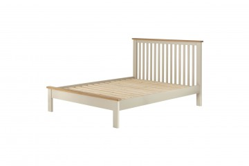 Denver 4'6 Bed-Cream
