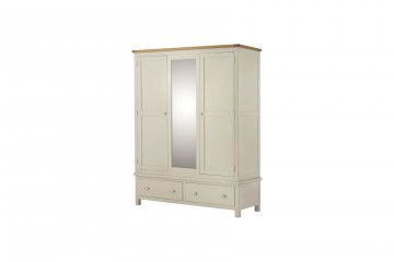 Denver Triple Wardrobe-Cream