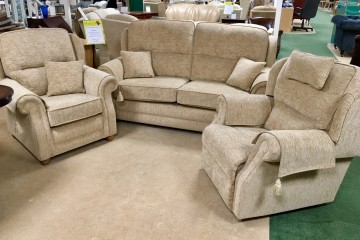 Windsor Sofa Co - Ascot 3-Seater Sofa, Chair and Manual Recliner Chair