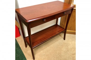 Windsor Hall Table with Drawers and Lower Shelf