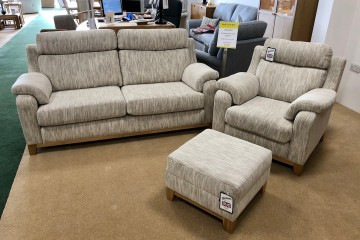 - Sorento 3-Seater Sofa, Armchair and Footstool