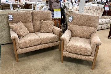 - Gina 2-Seater Sofa and Chair