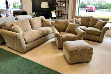 - Stirling 4-Seater Sofa, 2-Seater Sofa, Armchair and Storage Footstool
