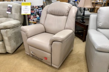 Milton Leather Manual Recliner Chair