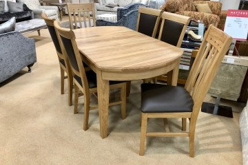 - Eton (Oak) Extending Dining Table and 6 Dining Chairs