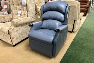 - Westbury Petite Single-Motor Rise-Recliner Chair in Leather